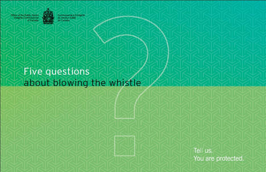 Five Questions about whistleblowing